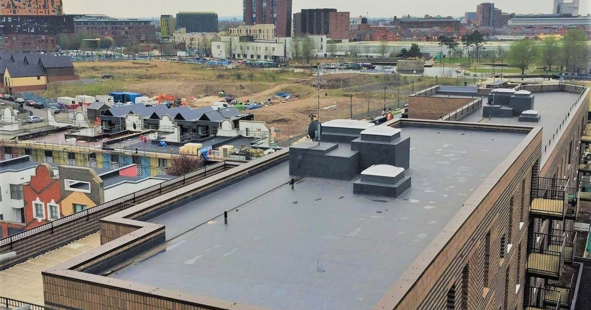 Single-Ply-flat-roofing-Manchester-new-build-roofing-contractor