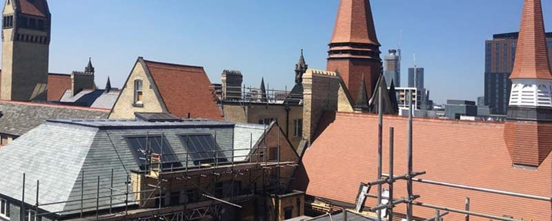 Pitched Slate and Tile Herigate Roofing University of Manchester