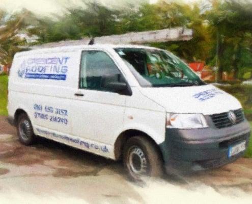 Crescent Roofing Van