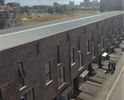 New-build-apartments-sheeting-and-cladding-roofing-Manchester